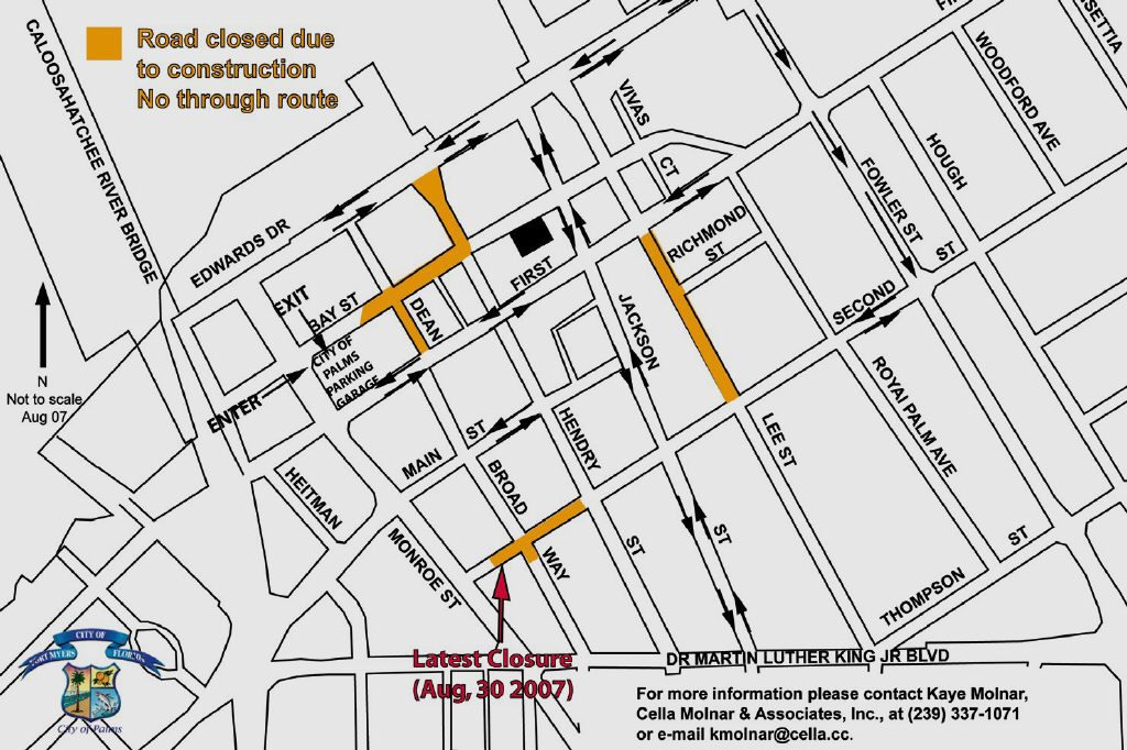 Second Street closed to traffic from Hendry to Monroe | Fort Myers Florida Weekly