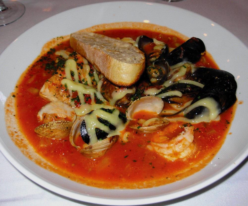 KAREN FELDMAN / FLORIDA WEEKLY Gulf fish stew stars shrimp, scallops, clams, mussels and fish in a tomato-saffron broth.