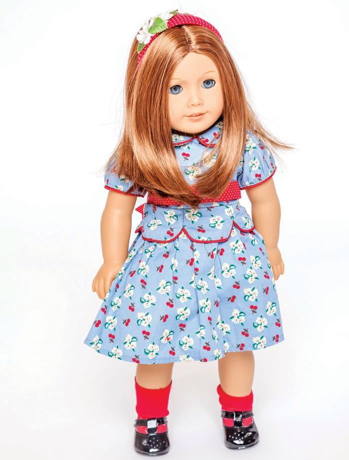 American Girl Molly Beret New Retired Blue Felt