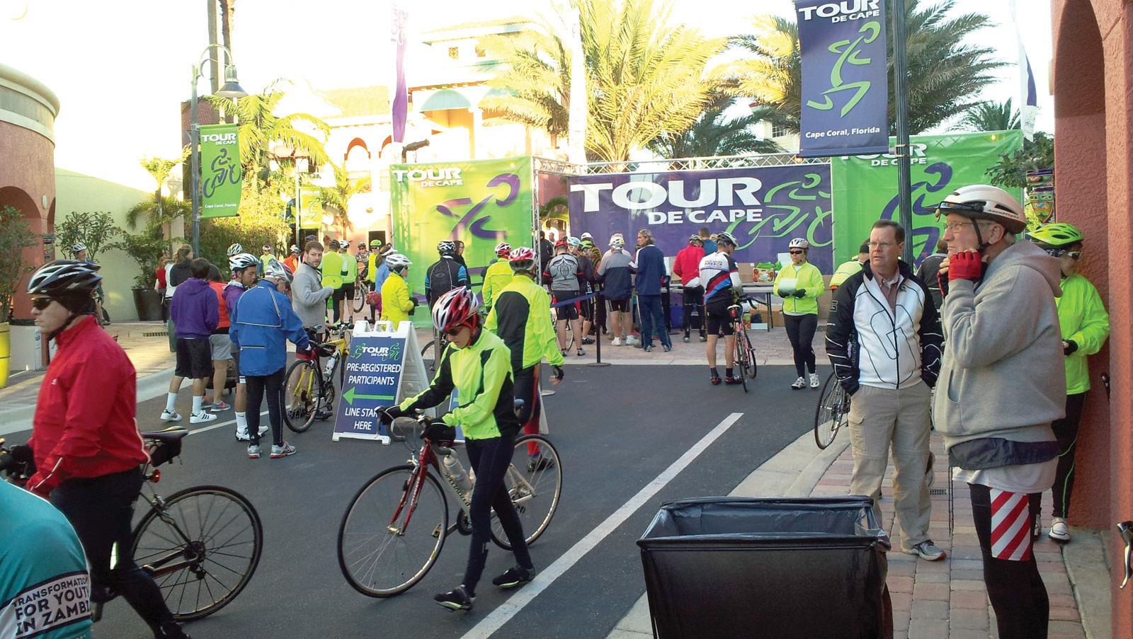 Riders prepare for Tour De Cape in Cape Coral in January.. DAN MOSER / FLORIDA WEEKLY