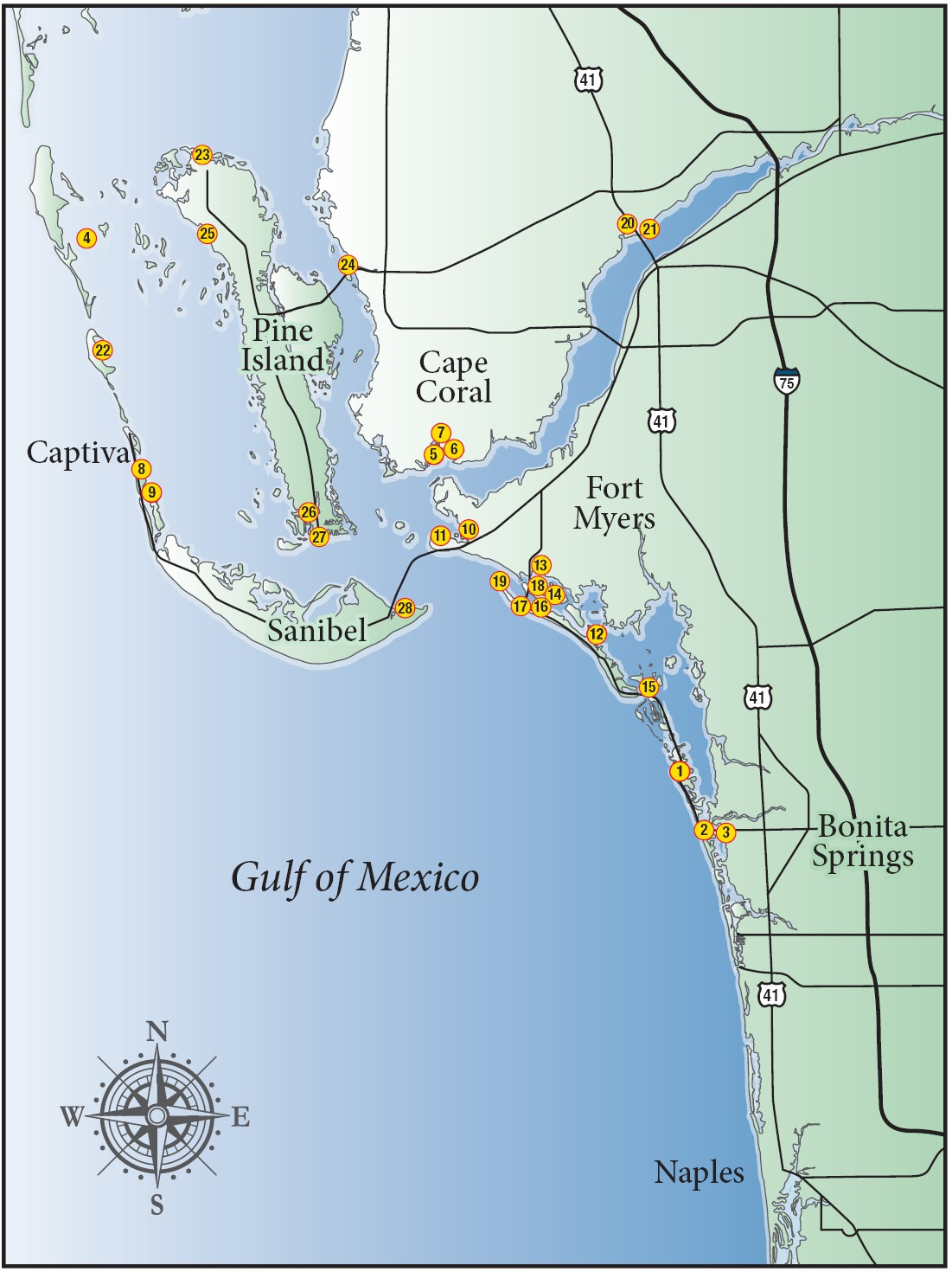 A boater's guide to food and drink on area waters | Fort ... on map of indian rocks beach fl, map of apopka fl, map of winter haven fl, map of cayo costa state park fl, map of fort walton beach fl, map of pine island fl, map of east palatka fl, map of navarre fl, map of ponte vedra beach fl, map of sebastian fl, map of mexico beach fl, map of cape san blas fl, map of orange park fl, map of weeki wachee fl, map of sunny isles beach fl, map of high springs fl, map of atlantic beach fl, map of cocoa fl, map of new port richey fl, map of indialantic fl,