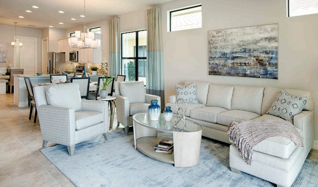 Above The Open Floor Plans Are Ideal For Entertaining Friends And Family Left