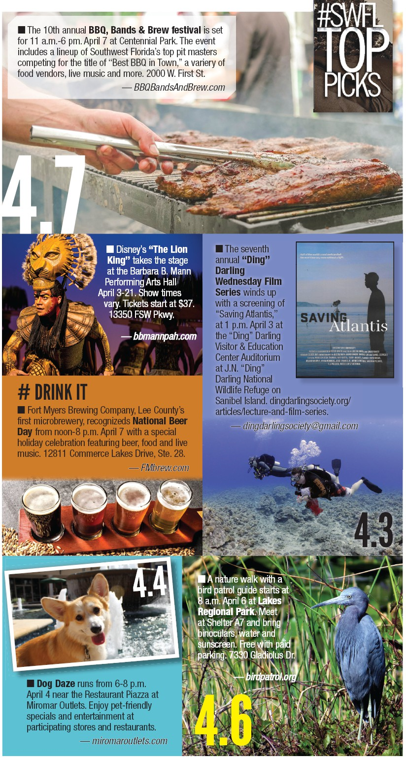 WHAT TO DO, WHERE TO GO   Fort Myers Florida Weekly