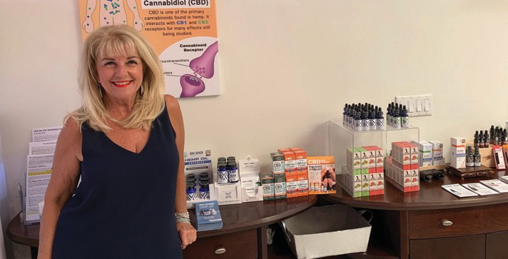 Marie Heiland, a 64-year-old Naples entrepreneur, founded Naples CBD Oil Company. COURTESY PHOTO