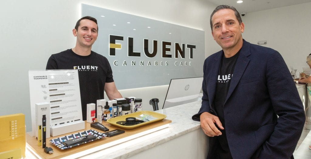 Fluent Cannabis Care grows, produces, and sells CBD and THC products. Because Fluent is licensed to sell products with more than .3 percent THC up to nearly pure THC, it is regulated by the Health Department and requires a doctor's approval to shop here. VANDY MAJOR / FLORIDA WEEKLY