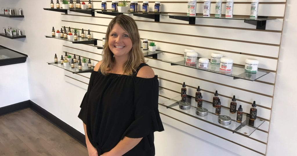 Kennedy Johnson is a North Palm Beach resident who opened Palm Beach CBD Boutique in September. SCOTT SIMMONS / FLORIDA WEEKLY