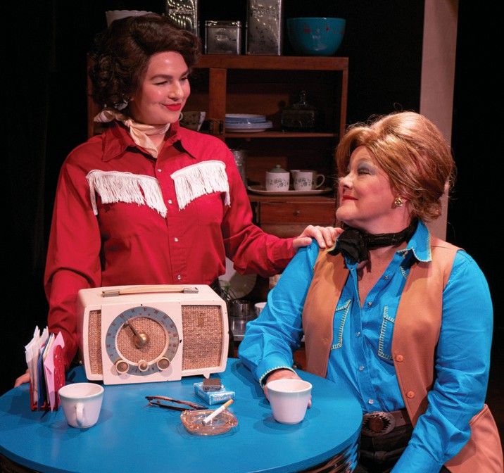 Becky Barta, right, plays sassy Texan, Louise Sever.