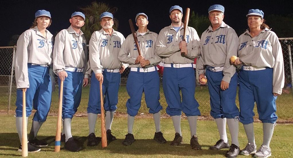 The Fort Myers Vagabonds vintage baseball team. COURTESY PHOTO
