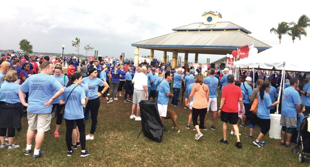 The Million Mile Movement is Healthy Lee's signature event. COURTESY OF HEALTHY LEE