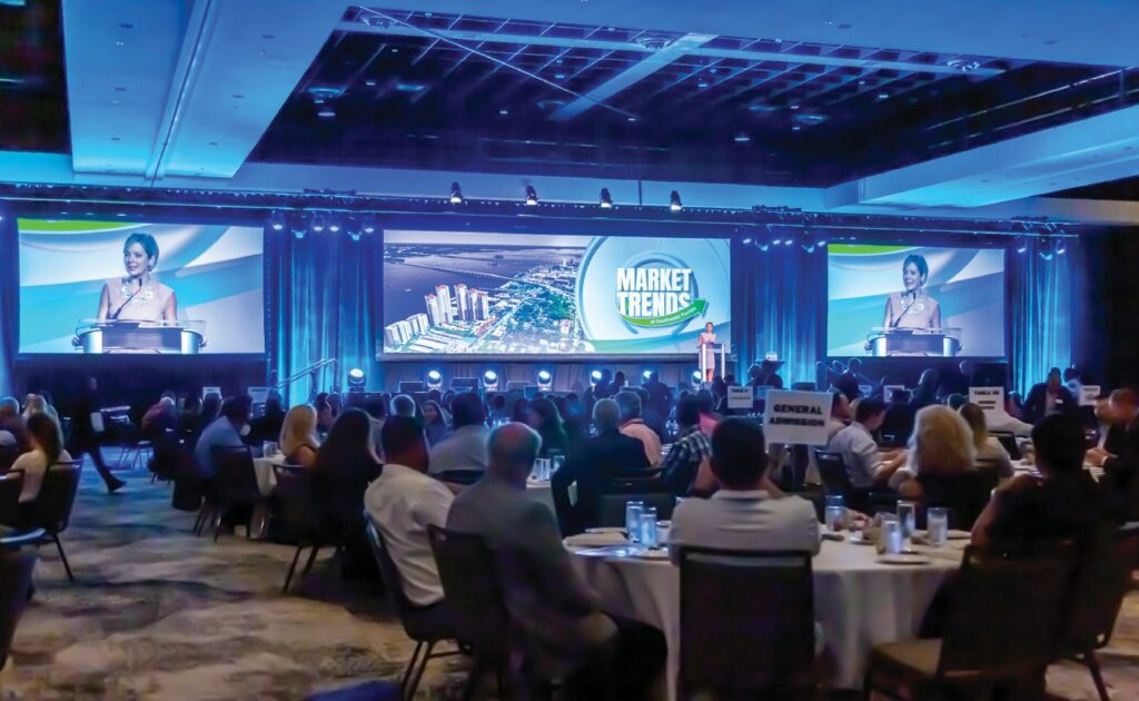 Hundreds gathered to hear real estate experts' thoughts on Market Trends on Sept. 9 at Caloosa Sound Convention Center in Fort Myers.