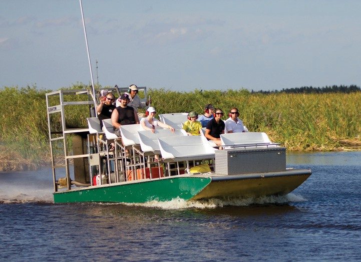 Loxahatchee Everglades Airboat Tours offer an opportunity to see the Florida Everglades up close. COURTESY OF DISCOVER THE PALM BEACHES